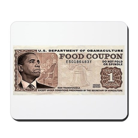 The Obama Food Stamp Mousepad