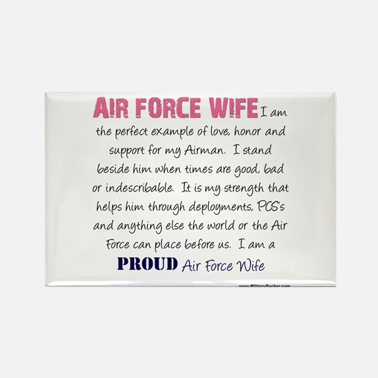 I Am...Air Force Wife Rectangle Magnet