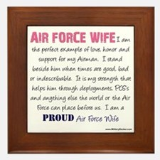 I Am...Air Force Wife Framed Tile