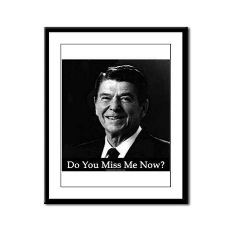 Ronald Regan Framed Panel Print