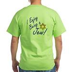 I Enjoy Being a Jew Pkt Green T-Shirt