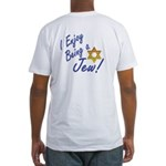 I Enjoy Being a Jew Pkt Fitted T-Shirt