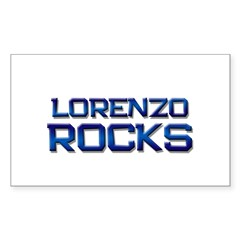 lorenzo rocks Rectangle Decal