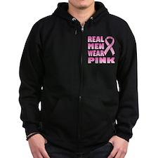 Real Men Wear Pink Zip Hoodie