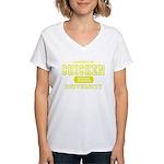 Chicken University Women's V-Neck T-Shirt