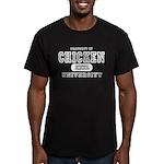 Chicken University Men's Fitted T-Shirt (dark)