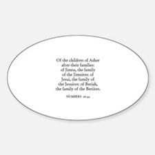 NUMBERS 26:44 Oval Decal