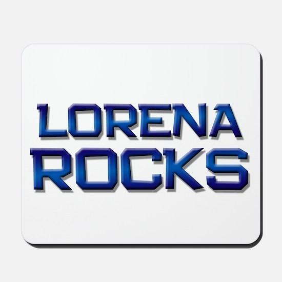 lorena rocks Mousepad