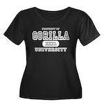 Gorilla University Women's Plus Size Scoop Neck Da