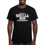 Gorilla University Men's Fitted T-Shirt (dark)