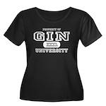 Gin University Women's Plus Size Scoop Neck Dark T