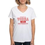 Vodka University Women's V-Neck T-Shirt