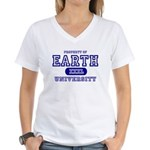 Earth University Property Women's V-Neck T-Shirt