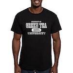 Green Tea University Men's Fitted T-Shirt (dark)