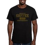 Coffee University Men's Fitted T-Shirt (dark)