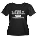 Baseball University Women's Plus Size Scoop Neck D