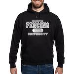 Fencing University Hoodie (dark)