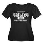 Sailing University Women's Plus Size Scoop Neck Da