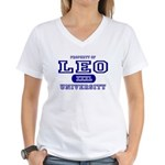 Leo University Property Women's V-Neck T-Shirt