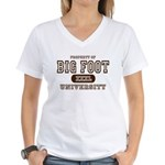 Big Foot University Women's V-Neck T-Shirt