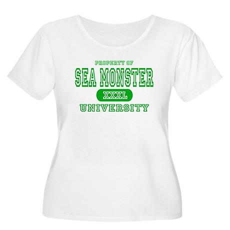 Sea Monster University Women's Plus Size Scoop Nec