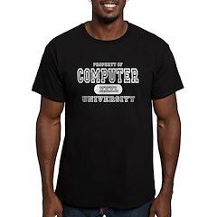 Computer University Men's Fitted T-Shirt (dark)