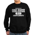Code Junkie University Sweatshirt (dark)