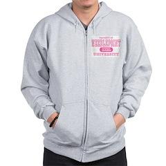 Needlepoint University Zip Hoodie
