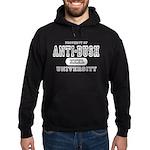 Anti-Bush University Hoodie (dark)