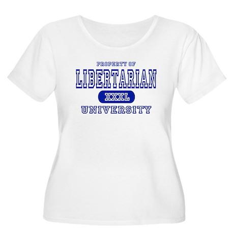 Libertarian University Women's Plus Size Scoop Nec