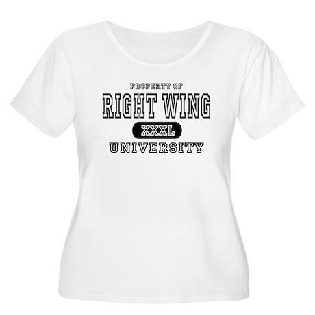 Right Wing University Women's Plus Size Scoop Neck