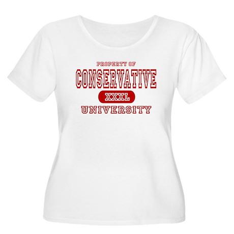 Conservative University Women's Plus Size Scoop Ne