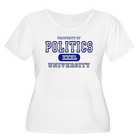 Politics University Women's Plus Size Scoop Neck T