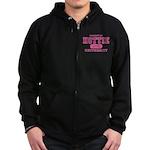 Hottie University Zip Hoodie (dark)