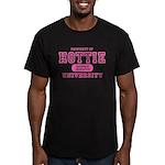 Hottie University Men's Fitted T-Shirt (dark)