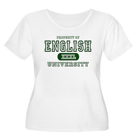 English University Women's Plus Size Scoop Neck T-