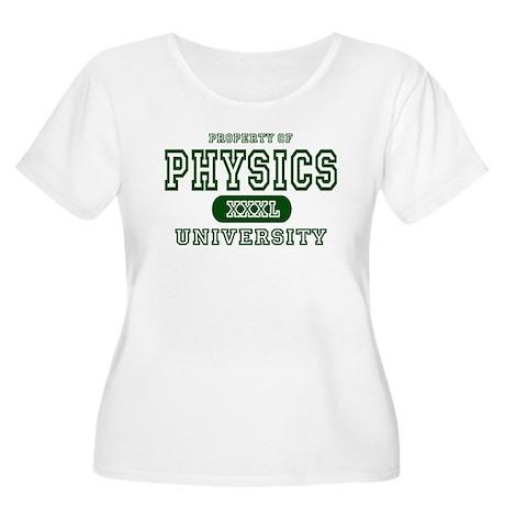 Physics University Women's Plus Size Scoop Neck T-