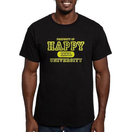 Happy University Men's Fitted T-Shirt (dark)