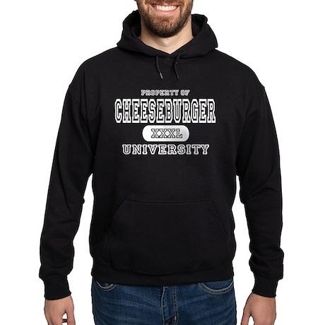 Cheeseburger University Hoodie (dark)