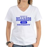 Billiards University Women's V-Neck T-Shirt