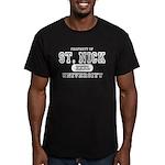St. Nick University Men's Fitted T-Shirt (dark)