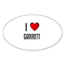 I LOVE GARRETT Oval Decal