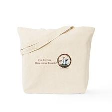 Fox Terrier Trouble Tote Bag