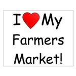 Heart Farmers Market Small Poster
