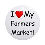 Heart Farmers Market Ornament (Round)