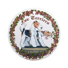 Fox Terrier Trouble Ornament (Round)