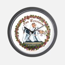 Fox Terrier Trouble Wall Clock