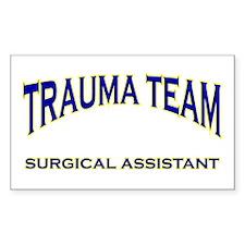 Trauma team SA - blue Rectangle Decal
