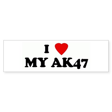 I Love MY AK47 Bumper Sticker