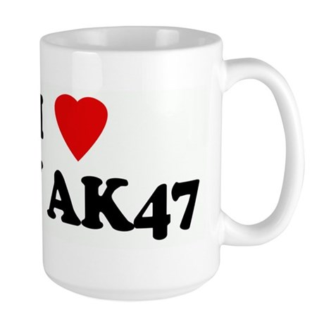 I Love MY AK47 Large Mug